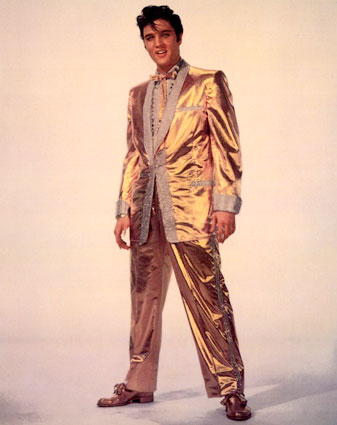 elvis gold lame suit!